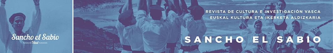 Sancho el Sabio : revista de cultura e investigación vasca = euskal kultura eta ikerketa aldizkaria